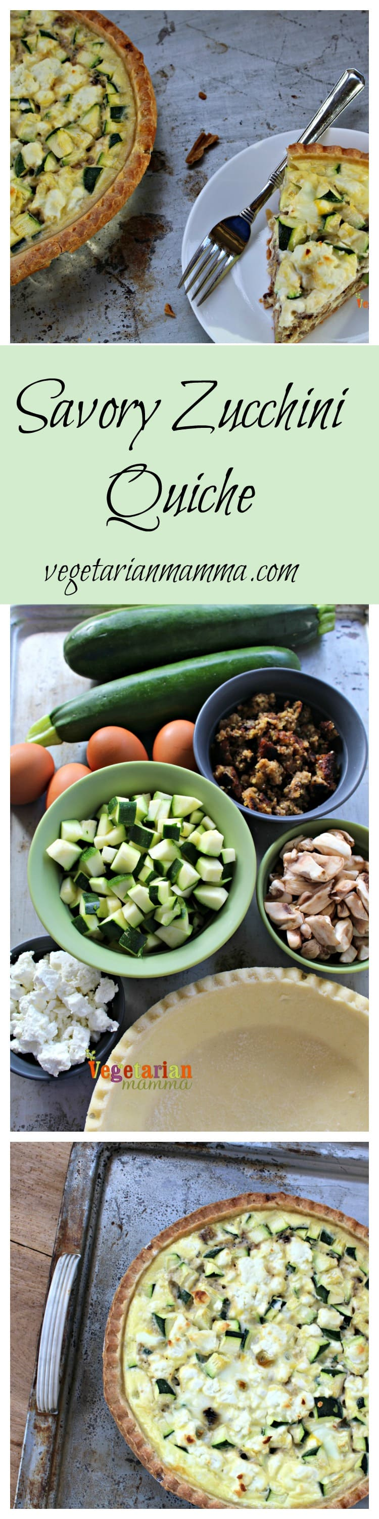 Gluten Free and Vegetarian Zucchini Quiche