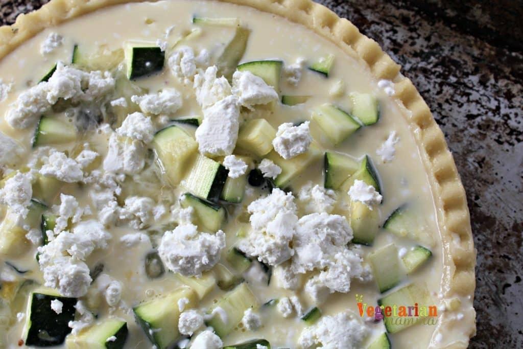 Gluten Free and Vegetarian Zucchini Quiche