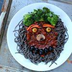 Spooky Halloween Pasta - Gluten Free and Vegetarian