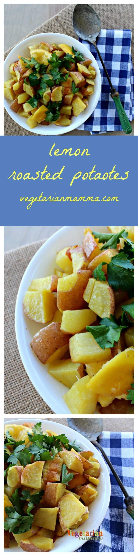 Lemon Roasted Potatoes - Gluten Free Vegetarian Dairy Free