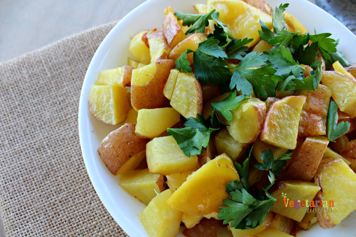 Lemon Roasted Potatoes - Vegetarian Mamma