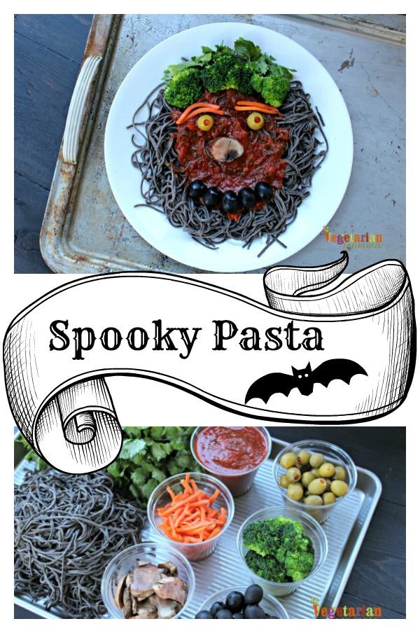 Spooky pasta pin