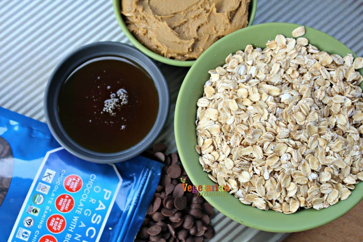 Ingredients for Gluten Free, Dairy Free, Nut Free Granola Bars