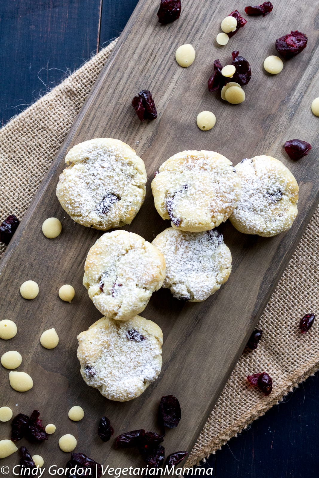 Allergy Friendly Gluten Free Lemon Cranberry Cookies displayed on a serving platter