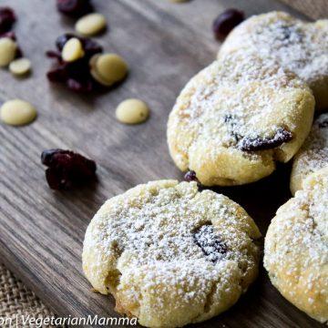 Allergy Friendly Gluten Free Lemon Cranberry Cookies