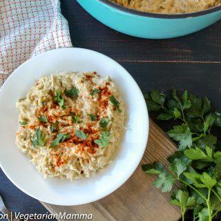 Roasted Cauliflower Alfredo Spaghetti