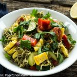 Gluten Free Pasta with Roasted Vegetables - Nut Free + Vegan