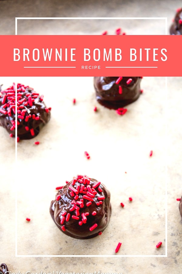 Brownie Bomb Bites - a delicious gluten free treat