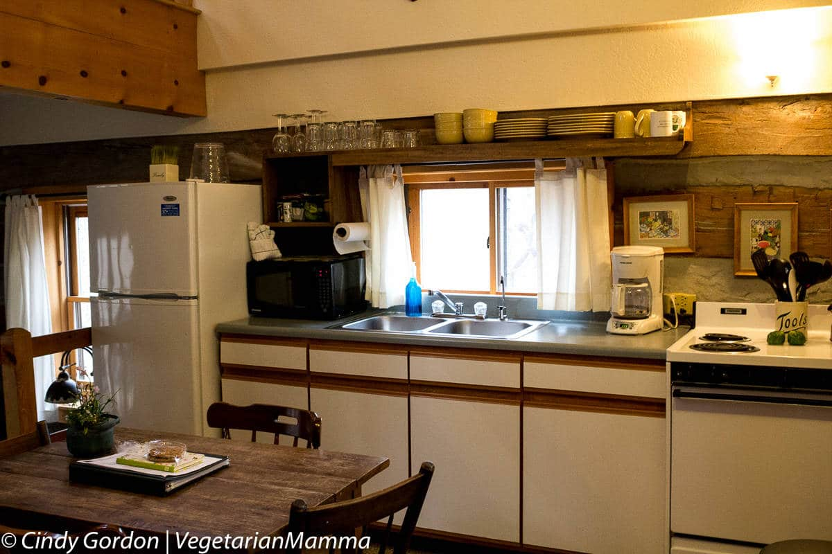 Cabins at Inn at Cedar Falls - Full Kitchen microwave coffee