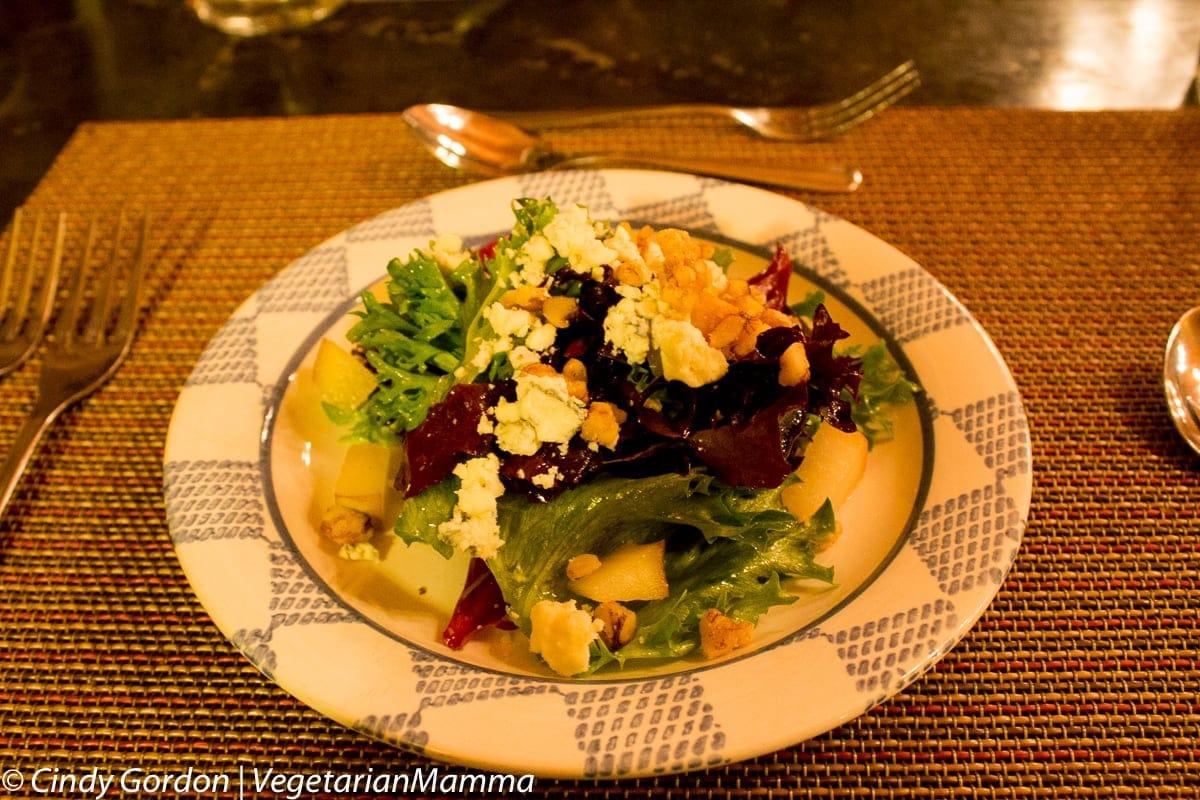 Vegetarian options at Kindred Spirits, The Inn at Cedar Falls