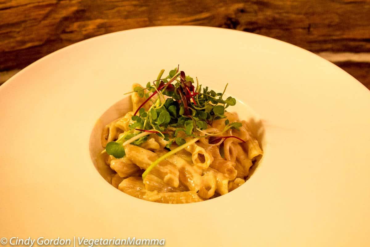 Gluten free macaroni options at Kindred Spirits, The Inn at Cedar Falls