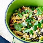 Warm Black Bean Corn Pasta Salad