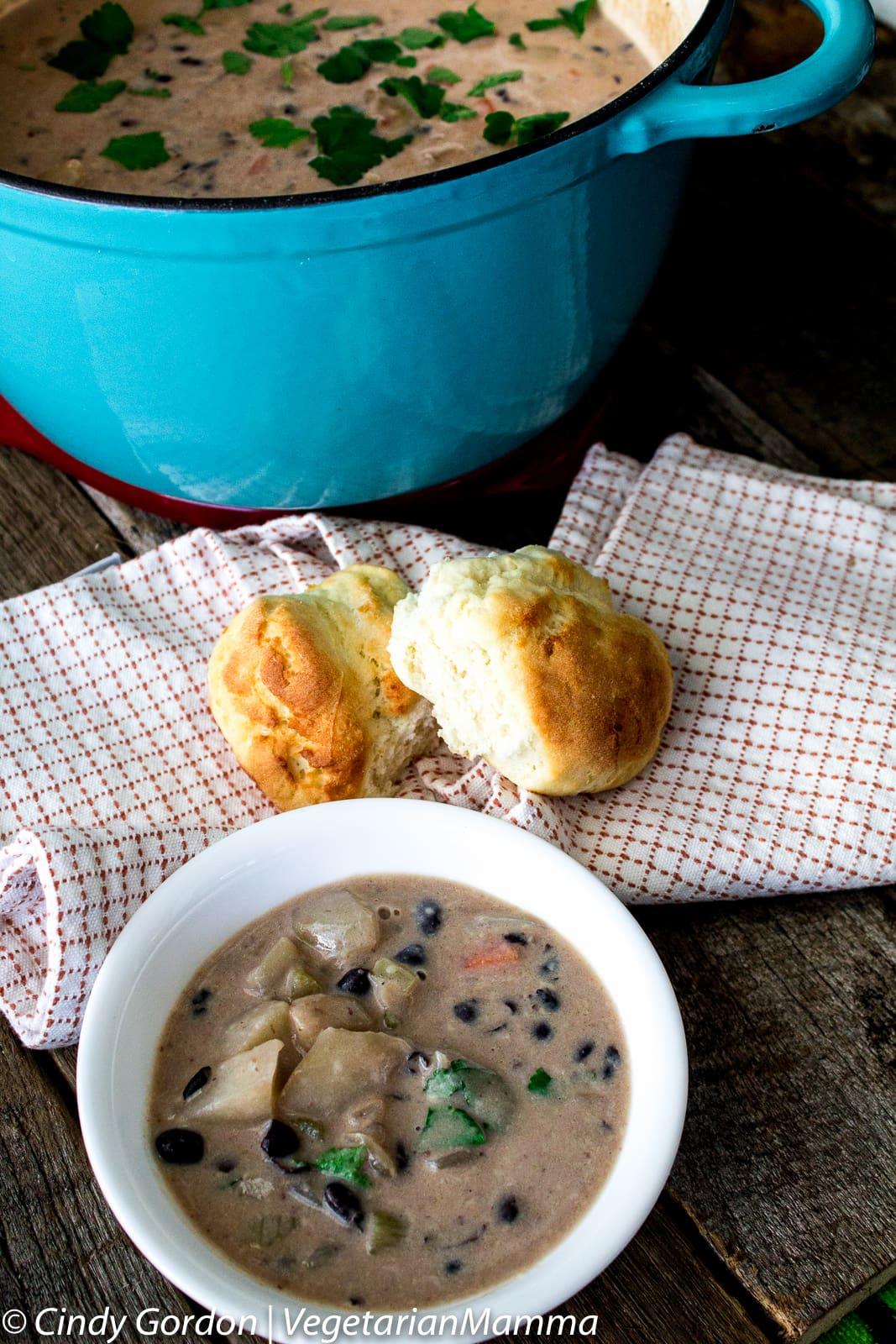Cheesy Potato Bean Soup