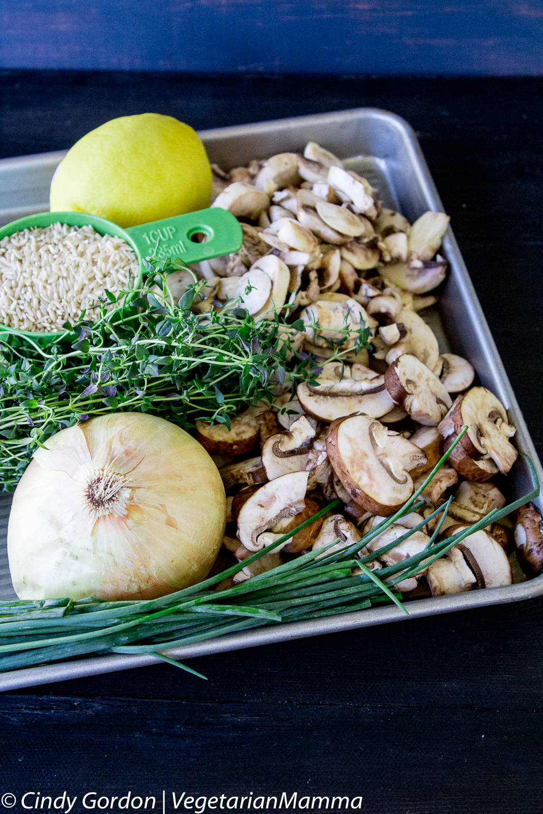 Ingredients for Creamy Mushroom Rice Soup