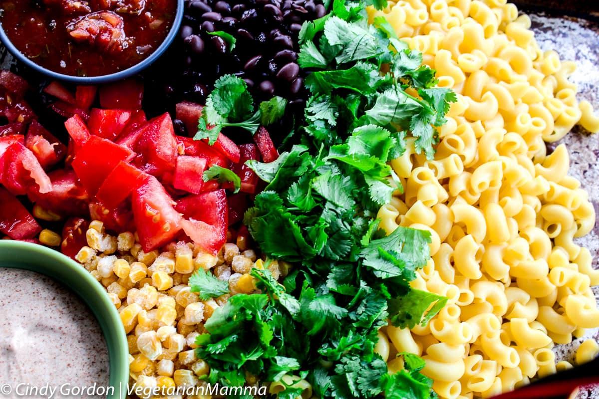 Ingredients displayed for Taco Pasta Salad