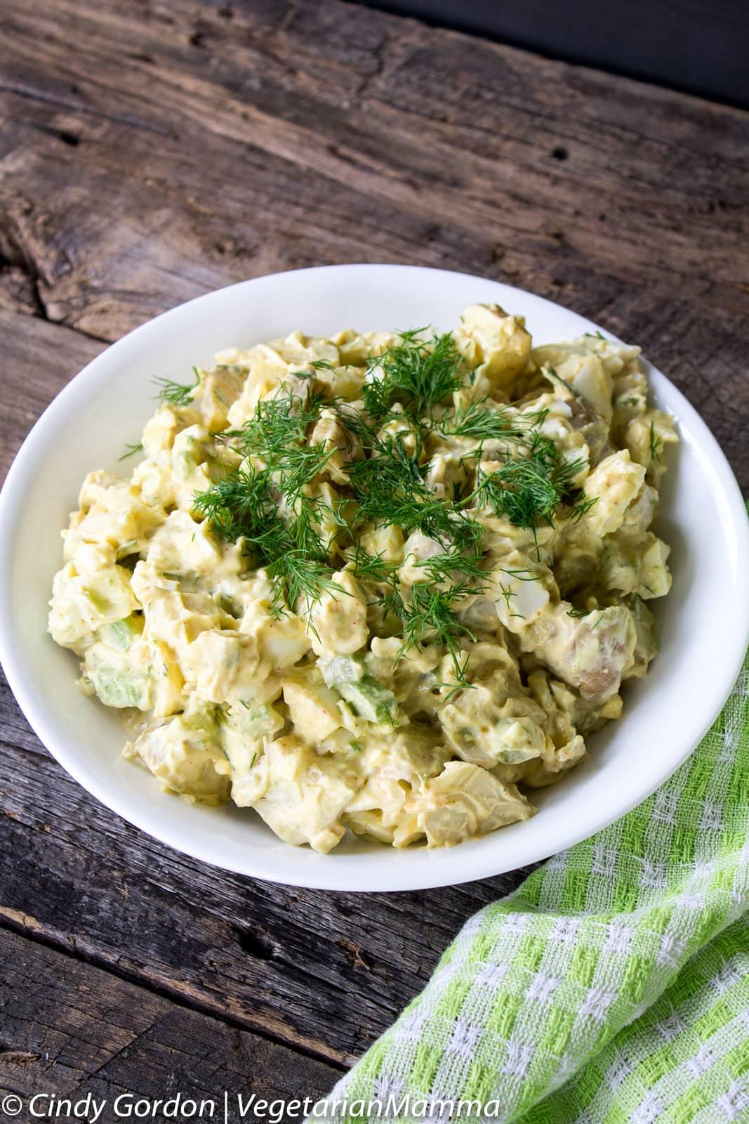 Creamy Avocado Potato Salad - A twist on the American Classic