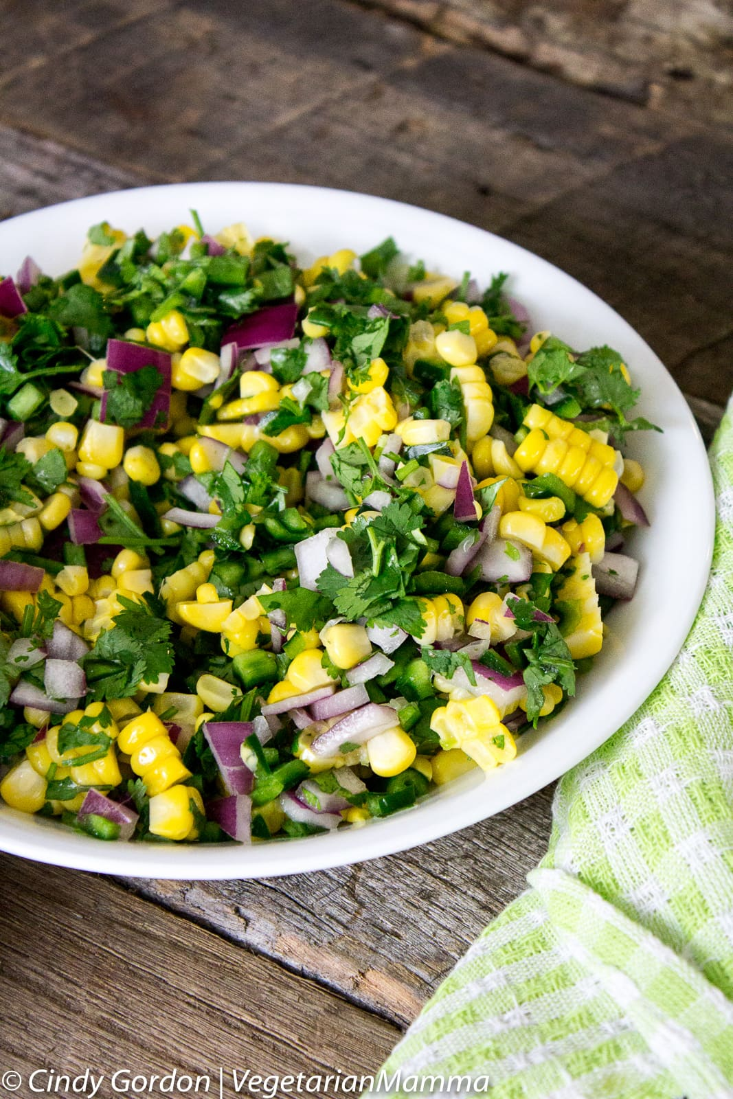 Easy Corn Salsa A delicious snack @vegetarianmamma.com