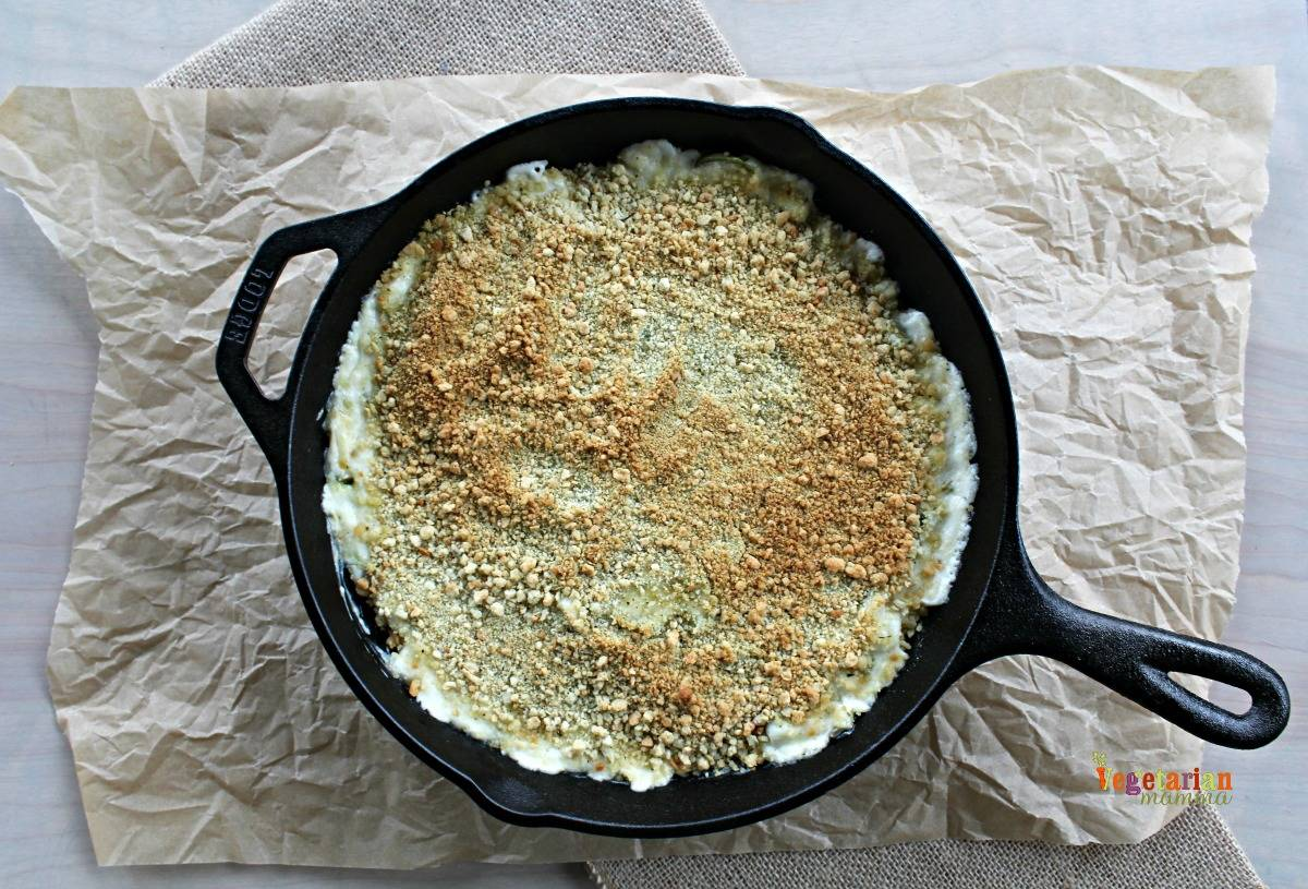 Jalapeno Chip Dip @VegetarianMamma.com - Cast Iron Skillet Snacking