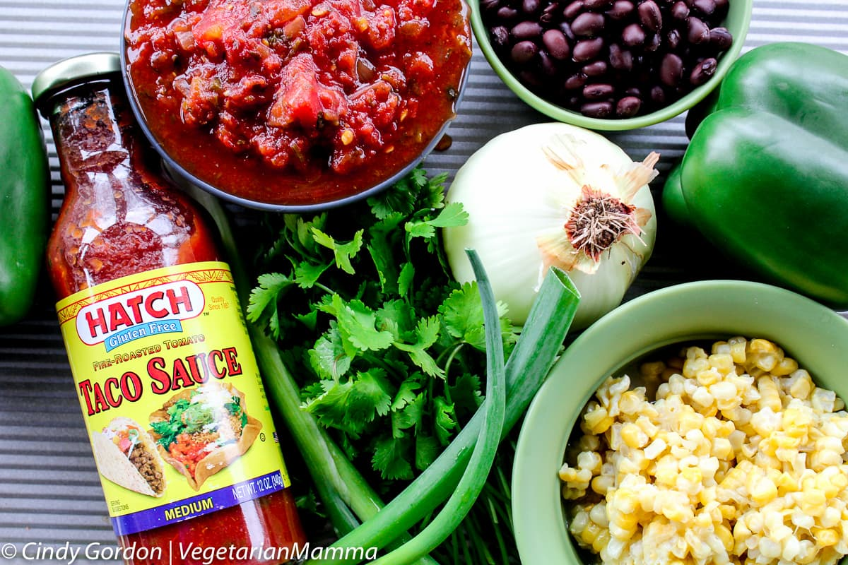 Southwest Black Bean Corn Soup ingredients