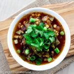 Southwest Black Bean Corn Soup @vegetarianmamma.com