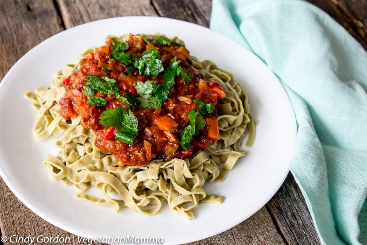 Vegetarian Bolognese @vegetarianmamma.com