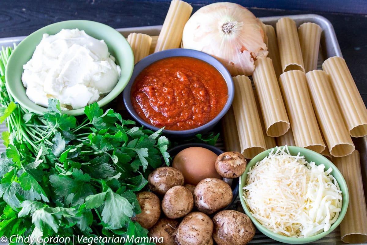 Gluten Free Mushroom Manicotti