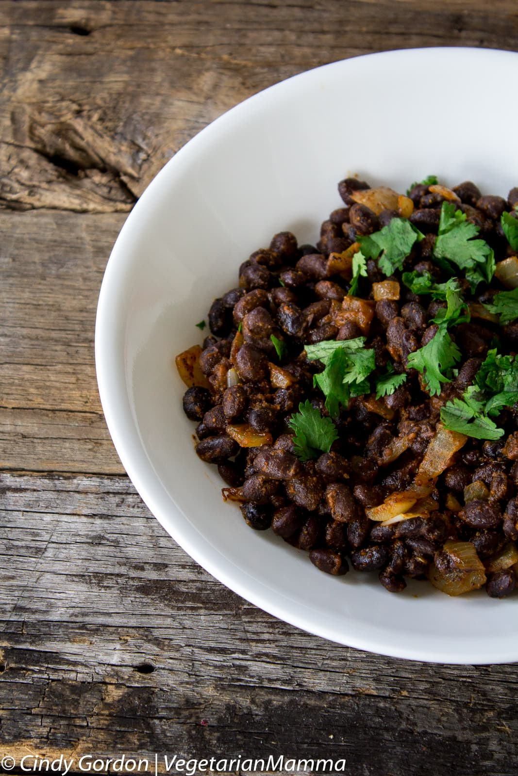 Easy Southwest Seasoned Black Beans made from canned black beans.