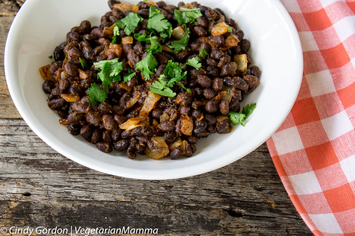 Seasoned Black Beans made easy for the perfect side dish.