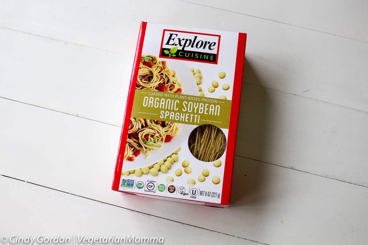box of soybean spaghetti