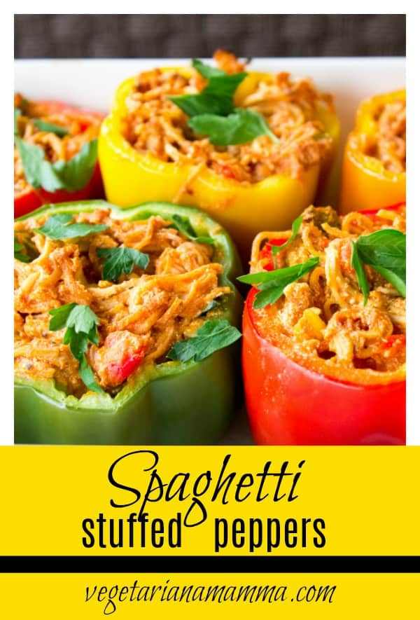 Spaghetti Stuffed Peppers