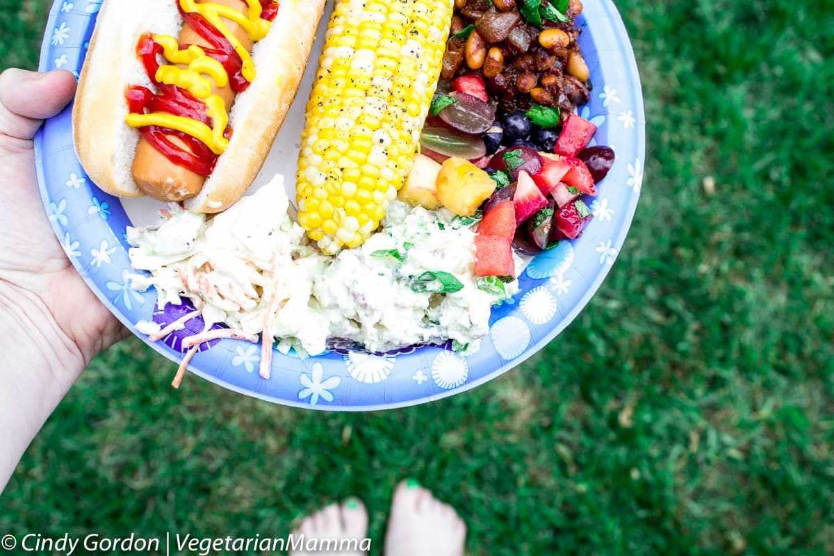 Summer Time Vegetarian Baked Beans