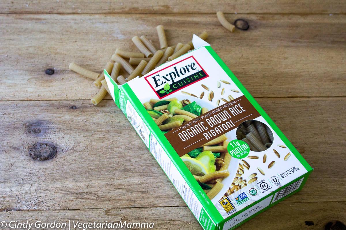 box of explore cuisine pasta for taco pasta salad