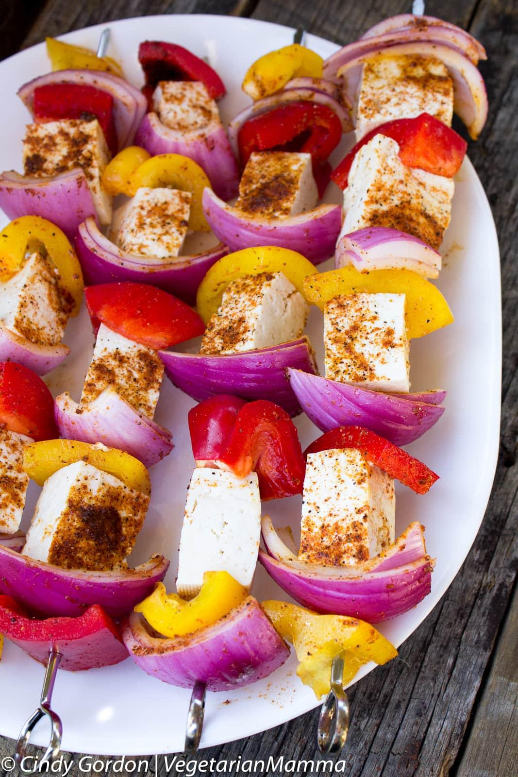 Fajita Tofu Kabobs a delicious grilling recipe