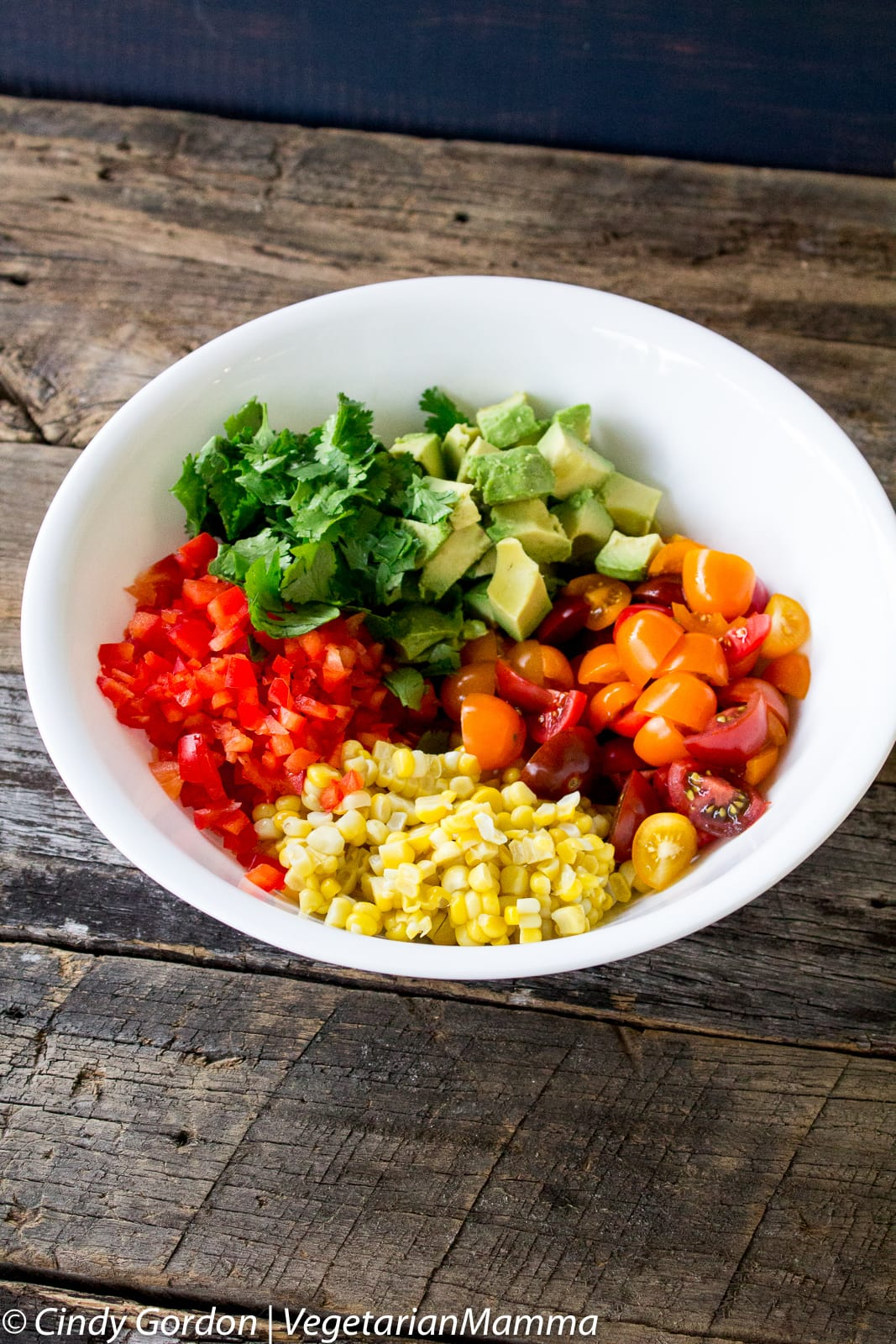 Grilled Corn Avocado Tomato Salad - perfect for your next BBQ