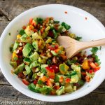 Grilled Corn Avocado and Tomato Salad - perfect for your next BBQ