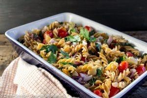 Mediterranean Pasta Casserole – Lots of flavor!
