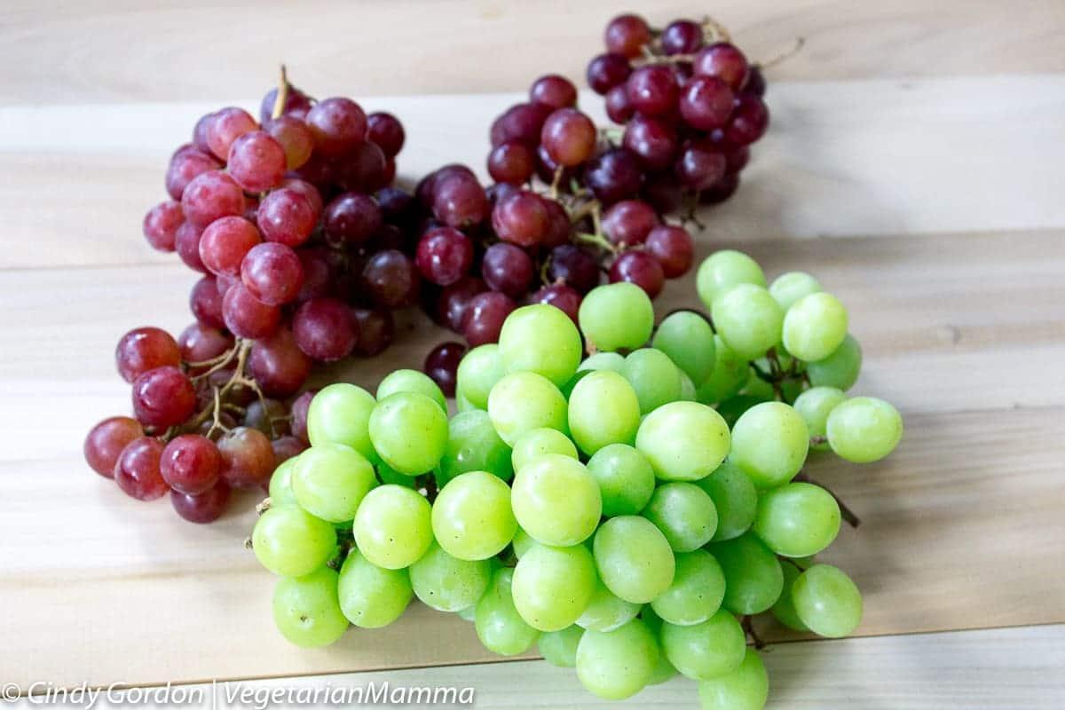 creamy grape fruit salad vegetarian mamma