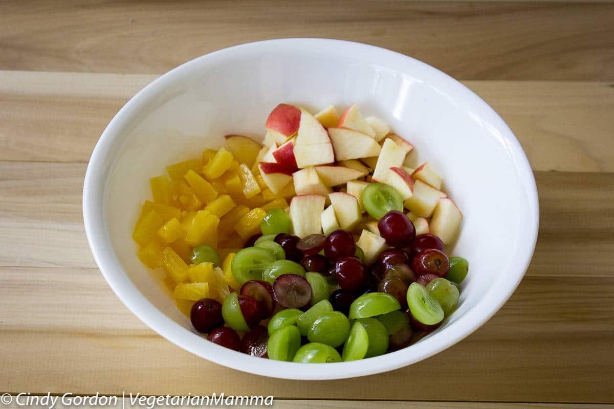 how to make creamy macaroni fruit salad