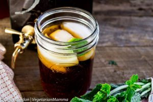 Ginger Lime Iced Tea with Mint