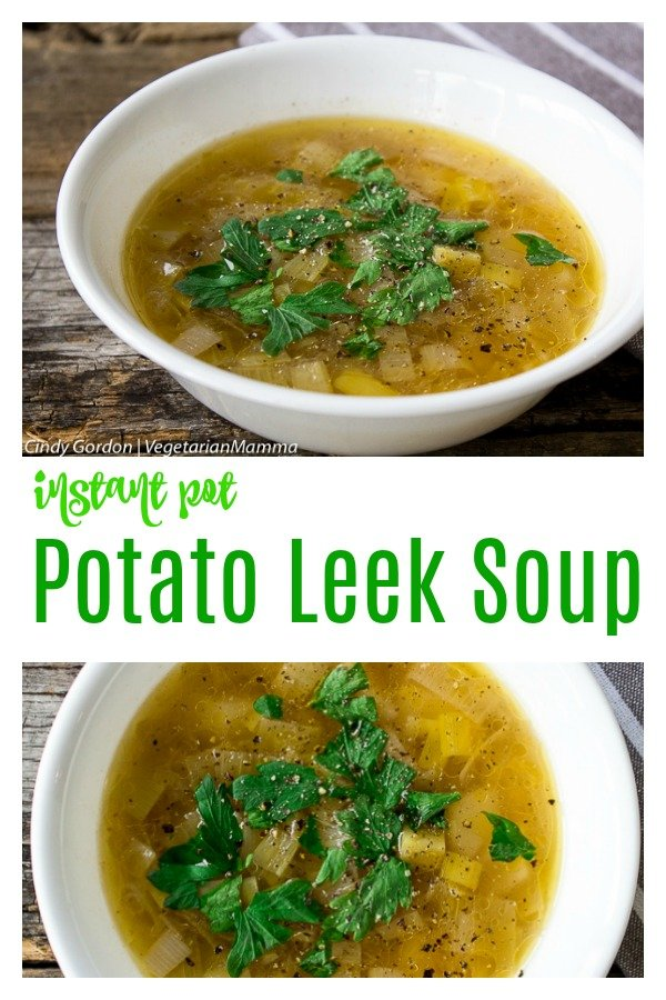 This Instant Pot Potato Leek Soup is perfect for a family-friendly dinner! It can be made in your Instant Pot in no time at all! #instantpotleeksoup #instantpot #souprecipes