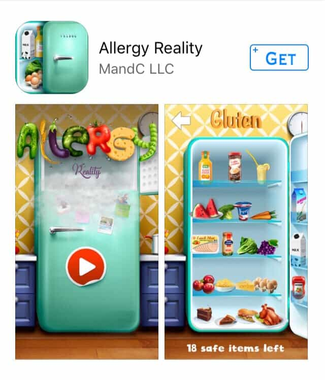 Allergy Reality App - new educational app about food allergies