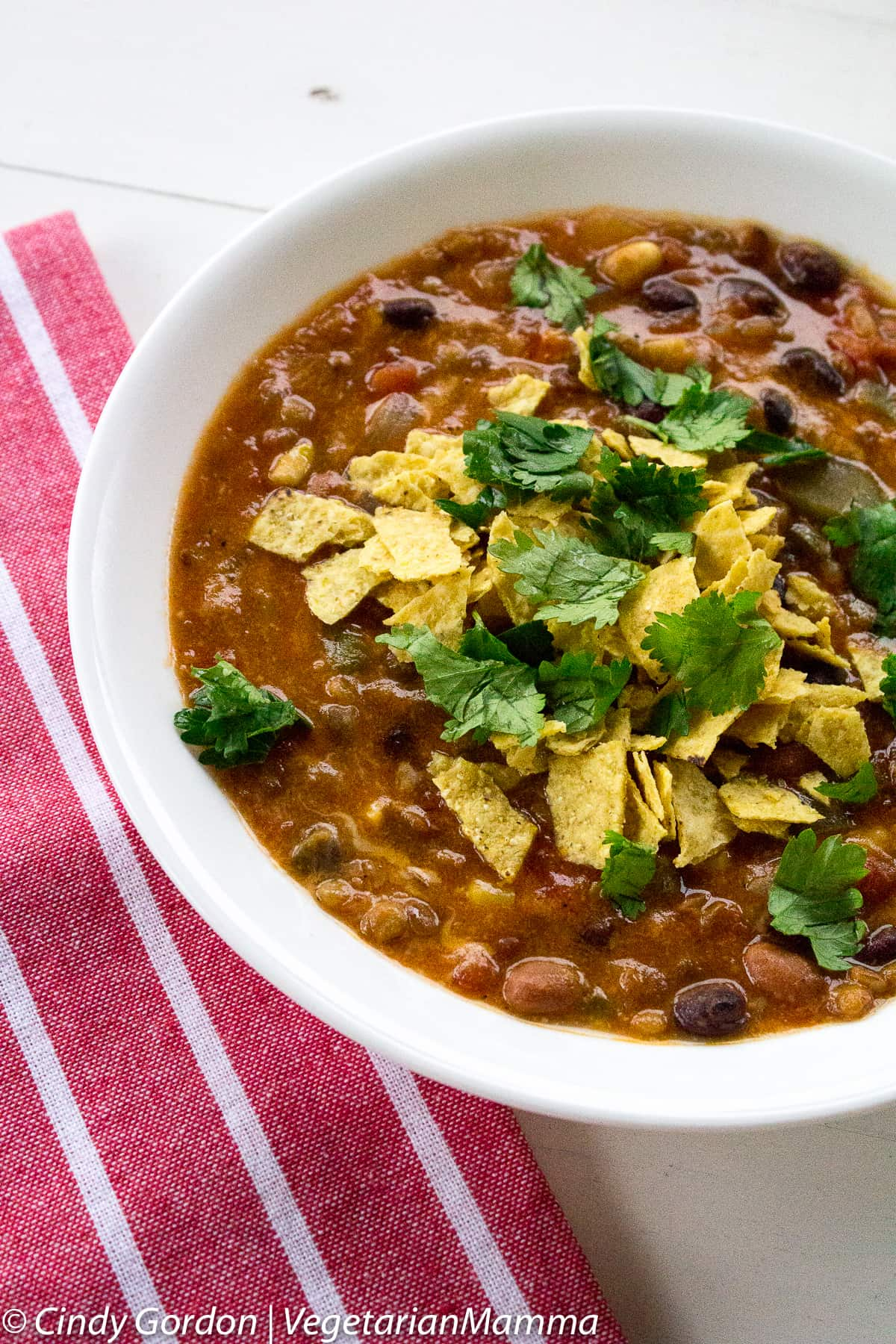 Bowl of Instant Pot Taco Soup
