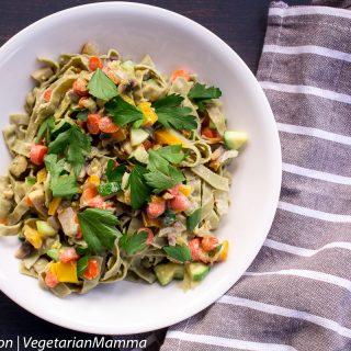 Vegetarian Lemon Pasta Primavera