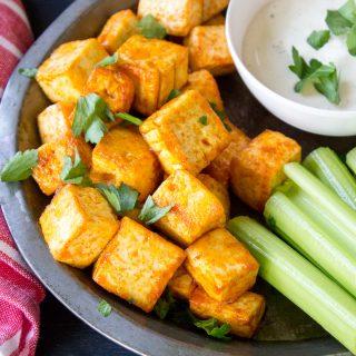 Buffalo Tofu Bites – featuring the EZ Tofu Press