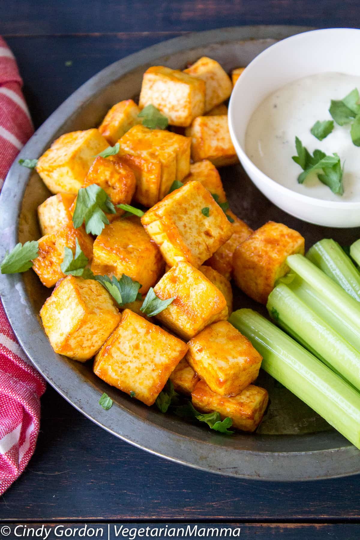 Buffalo Tofu Bites are perfect for game day!