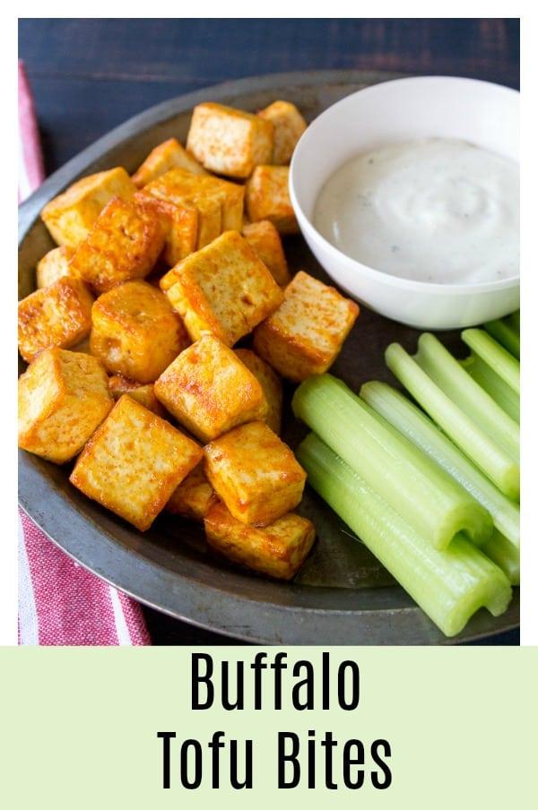 Vegan Buffalo Tofu Bites
