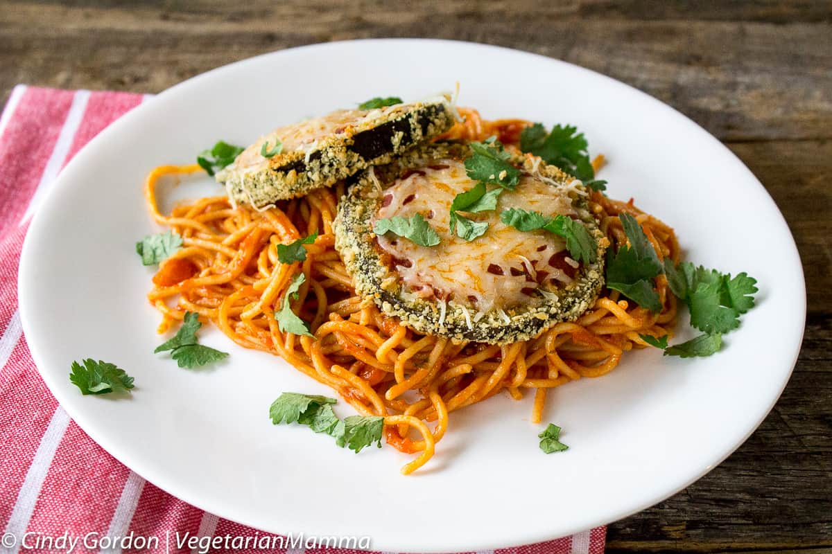 Gluten Free Eggplant Parmesan from VegetarianMamma