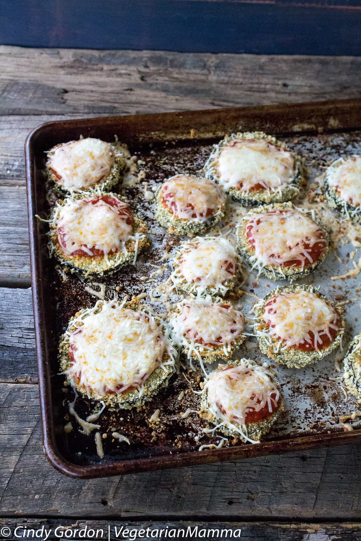 Gluten Free Eggplant Parmesan Recipe - baked on sheetpan