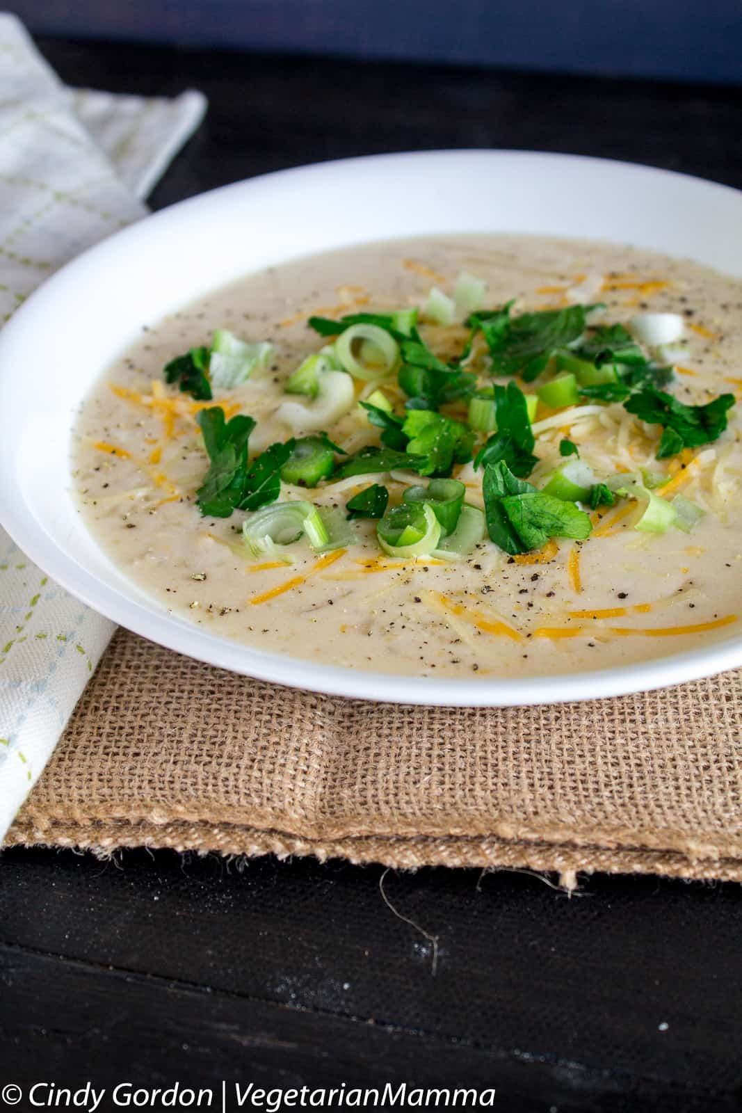Bowl of Slowcooker Hashbrown Soup