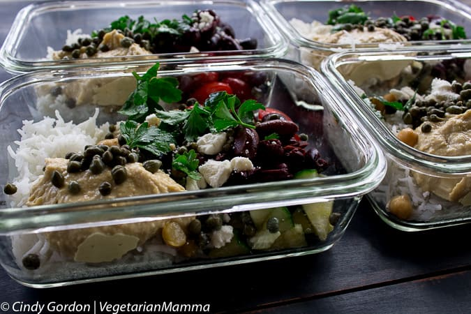 Mediterranean Hummus Bowl Food Prep Meal